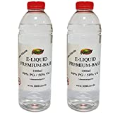 E Liquid Base 2 x 1L / 2 Liter 2000ml PUR Vape OHNE Nikotin 2 x 1000 ml (50VG/50PG)