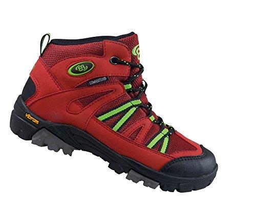 Brütting Ohio High, Chaussures de Randonnée Hautes Mixte Adulte Rouge (Rot/schwarz/lemon)