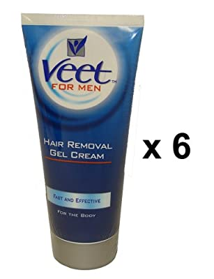 Veet For Men Hair Removal Cream 200ml Pack Of 6