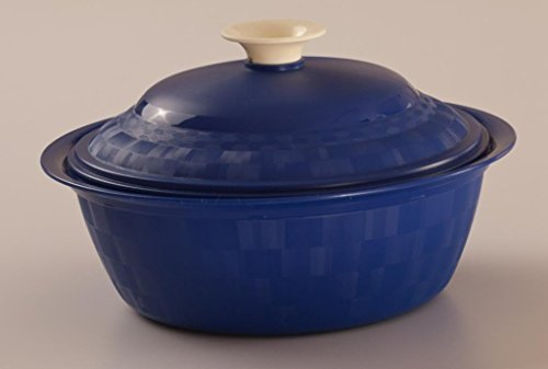 Cutting Edge Daffodil Royal Serving Dish, Set of 1, 1.8 Litre, Electric Blue  available at amazon for Rs.200