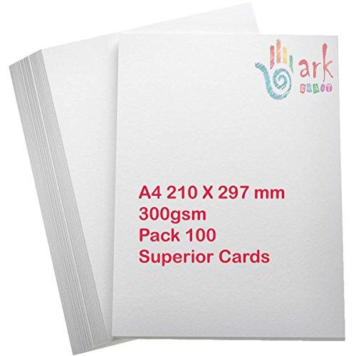 100x A4Premium dick weiß Drucker Handwerk Karte 300GSM von - Karten-drucker