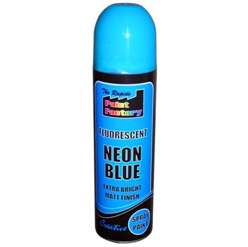 1-x-blue-fluorescent-neon-spray-paint-matt-diy-interior-exterior-bright-colour-aerosol
