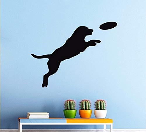 Lvabc 42X50 Cm Hund Spielen Ball Pvc Wandaufkleber Für Pet Shop Salon Salon Wandtattoo Kinderzimmer Dekor Silhouette Abnehmbare Wandtattoos
