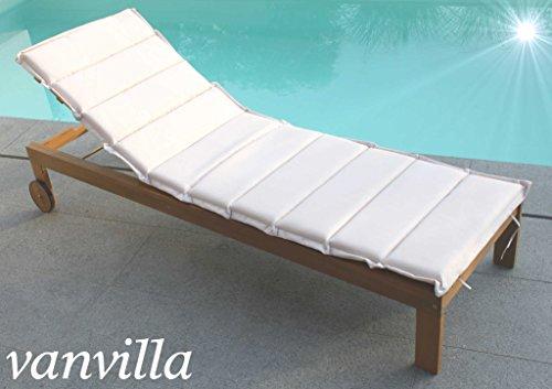 Gartenliege holz mit auflage  Gartenliege Holz. Kmh Eukalyptus Relaxliege Deckchair Sonnenliege ...