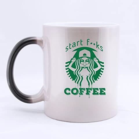 Starbucks Start Fucks Coffee Mug(Tazzine da caffè)- Funny Magic Morphing Mug(Tazzine da caffè) 11oz Coffee Mug(Tazzine da caffè)s or Tea Cup Cool Birthday/christmas Gifts for Men,women,him,boys and Girls - Starbucks Tazze E Tazzine