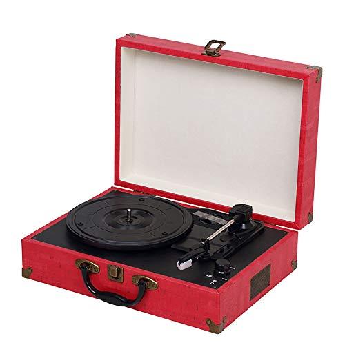 Lefang Retro Portable Vinyl Record Player Vintage LP Record Player Retro Vinyl Record Player Bluetooth Playback 33, 45, 78 RPM Play USB-Transkription