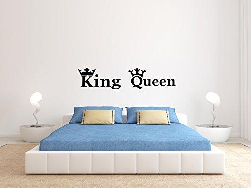 KING And QUEEN - KRONE - Schwarz - Klein - Wandtattoo