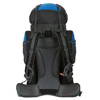 HWJIANFENG Backpack for Outdoor Sports Hiking Traveling Trekking Camping Waterproof Mountaineering Ultralarge Capacity Internal Frame Men Women 80L+5L 5