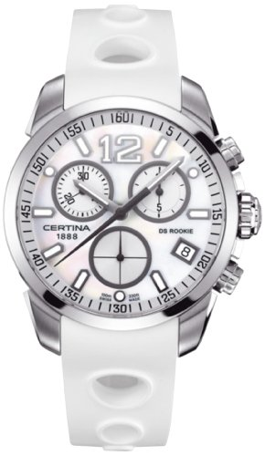 Certina Men's Quartz Watch with Black Dial Chronograph Display and rubber C016,417,17,117,00 XL