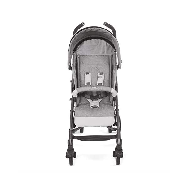 Chicco New Liteway Stroller Titanium Chicco Suitable from birth. Backrest declinable to 5 positions Complete with footmuff, extendable hood and rain cover. 2