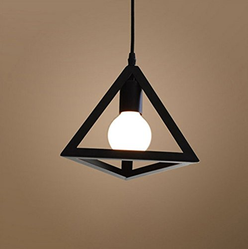 E27 Metal Moderne Suspensions Luminaire Metal Plafonnier Lustre Luminaire éclairage Forme de Géométrie Edison Culot E27 Noire Suspensions Luminaire