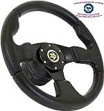 [TÜV-M10] DoradoTuning Volante Deportivo Ø 320 mm Rally/Deriva/Carrera/Universal/Negro