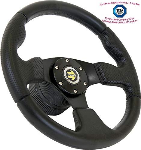 [TUV_M10] DoradoTuning Sportlenkrad/Lenkrad Ø 320mm Rallye/Drift/Rannen/Universal/Schwarz