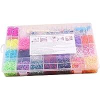 Healifty Gummibänder Webstuhl Armbänder Set mit Clips und Häkelnadeln