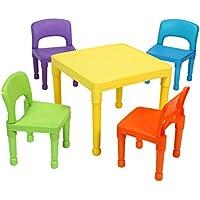 Preisvergleich für LibertyHouseToys Kinder Tisch und 4Stühle Set, Kunststoff, mehrfarbig