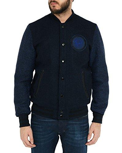 DIESEL - Herren- Marineblaue Bomberjacke mit Logo Diesel J Blusa für herren