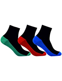 Supersox Men Ankle Two Tone Socks - Pack of 3
