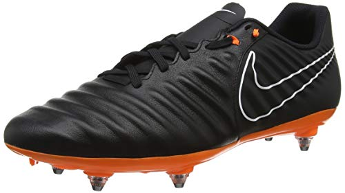 Nike Legend 7 Academy SG, Chaussures de Football Homme Noir/Blanc/Orange Total 080, 43 EU