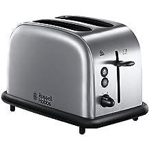 Russell Hobbs 20700-56 Oxford - Tostadora de acero inoxidable, 2 ranuras anchas, función para pan congelado, calienta panecillos