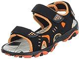 Brandsseller Kinder Trekking Sandalen/Sandalette/Sommerschuh (30 EU, Schwarz/Orange)