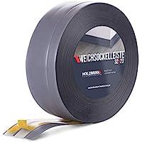 HOLZBRINK Rodapiés flexible autoadhesivo Gris Oscuro Rodapiés flexible 32x23 mm, 10 m Zócalo Autoadhesivo