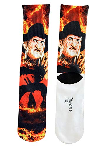 Hypnotic Hosiery Men's Nightmare on ELM Street Freddy Krueger Crew Socks Standard