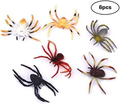 ZYCX123 Jouet intéressant Jouet araignée en 6 Plastique modèle 6-8cm 6 en 09218b