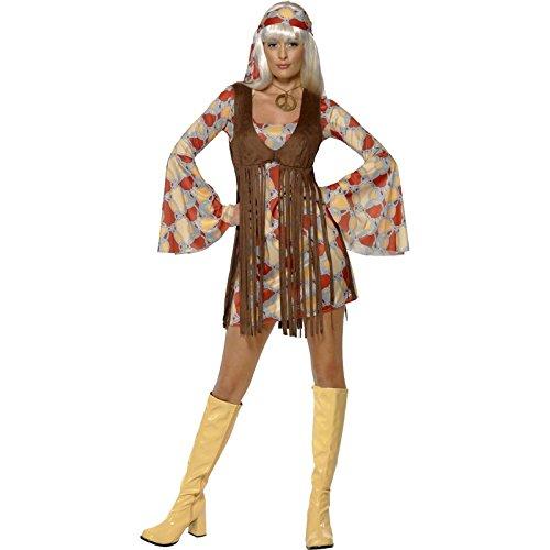 Smiffy's - Disfraz de años 60s retro para mujer, talla S (39435S)