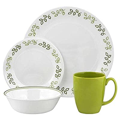 16pc Corelle Neo Leaf Dinner Set