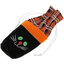B Baosity Bolsa de Vino Tinto Modelo de Calabaza/Bruja/Gato Negro Ornamento de