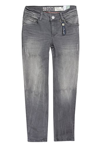 Lemmi Jungen Jeanshose Hose Jeans Boys Tight Fit Big, Grau (Grey Denim|Gray 0016), 176 (Herstellergröße: 176)