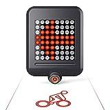 MUTANG 64 LED Fahrradlicht, Mountainbike Intelligente Lenkbremsrücklicht USB Wiederaufladbare Projektionslampe, fahrendes Warnlicht