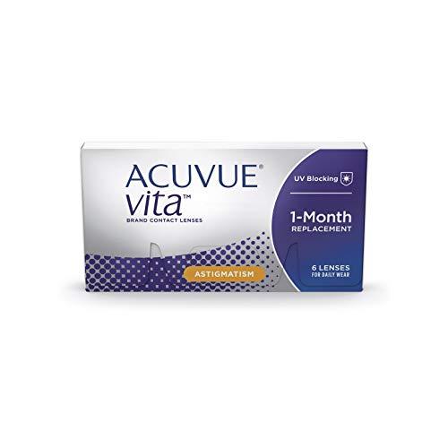 ACUVUE Kontaktlinsen Vita for Astigmatism Monatslinsen weich, 6 Stück / BC 8.6 mm / DIA 14.5 / CYL -0.75 / Achse 170 / -2.75 Dioptrien