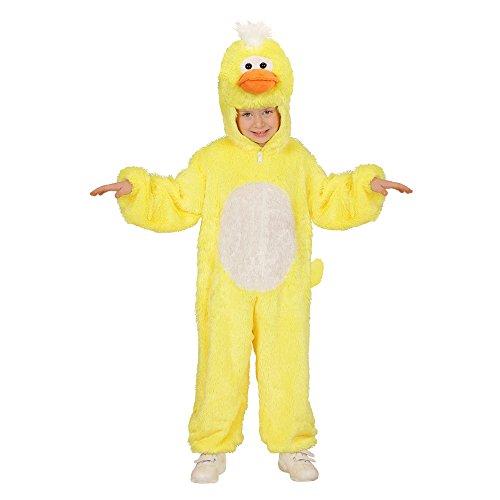 Widmann 98088 - Kinderkostüm Ente aus Plüsch, Overall -