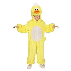WIDMANN Disfraz de Pollo de Peluche Mono con Capucha y máscara