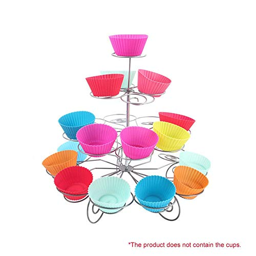 Yao Cupcake Stand Tier Round Stacked Party for Birthdays Weddings Showers Parties