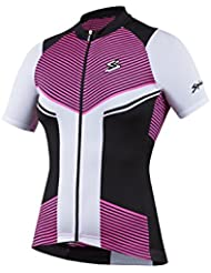 Spiuk Performance Maillot, Mujer, Rosa / Blanco / Negro, XL