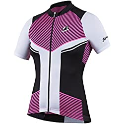 Spiuk Performance Maillot, Mujer, Rosa / Blanco / Negro, M