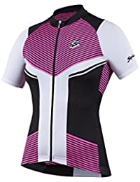 Spiuk Performance Maillot, Mujer, Rosa / Blanco / Negro, S