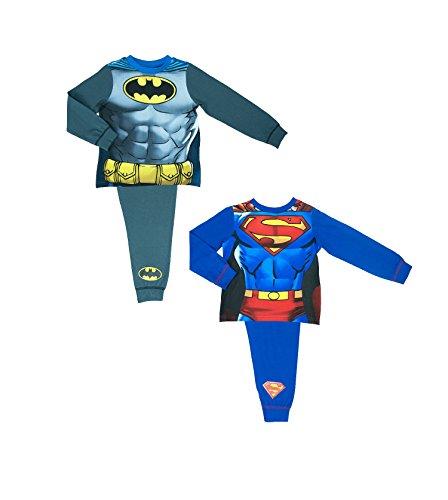 DC Comics 2 Pack Batman und Superman Neuheit Pyjamas 2 - 8 - 2-3 years / 98 cms (3 Jahre Alten Superman Kostüm)