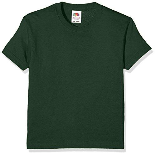 Fruit of the Loom Jungen T-Shirt SS132B, Green (Bottle Green), 3-4 Jahre