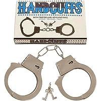Metal Hand Cuff Love Handcuffs Cuffs Police Man Fancy Dress Costume Accessory