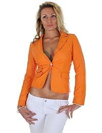 Damen Jacke Blazer im Lederlook in 4 Farben 36 S - 42 XL