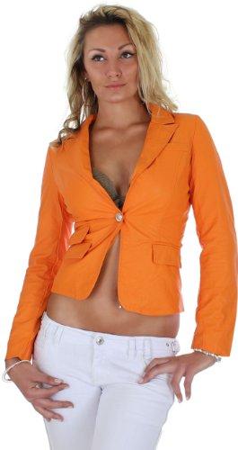 Jacke Damen Blazer im Lederlook