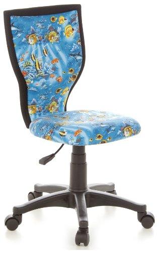 hjh OFFICE 670085 Kinderschreibtischstuhl KIDDY LUX Aquarium Stoff blau