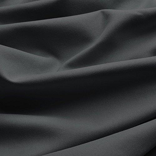 Beautissu Thermovorhang Amelie 140×245 cm Kräuselband Vorhang blickdicht & Verdunkelung – Gardine in Anthrazit-Grau - 3