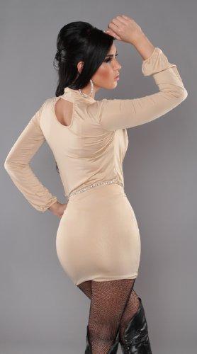 Sexy KouCla Minikleid im Wickeloptik mit Gürtel Koucla by In-Stylefashion SKU 0000K889401 Beige