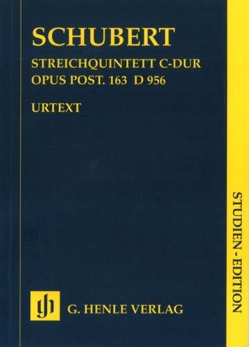 Streichquintett C-dur op. post. 163 D 956; Studienedition