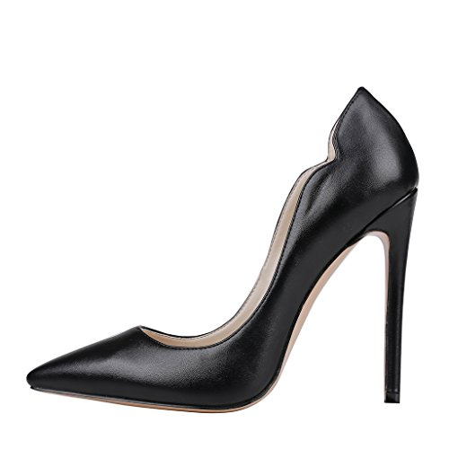 MERUMOTE , Chaussures à talon fin femme Noir - Black-matte