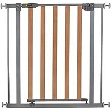 Hauck Wood Lock Safety Gate - Puerta de seguridad, color plateado